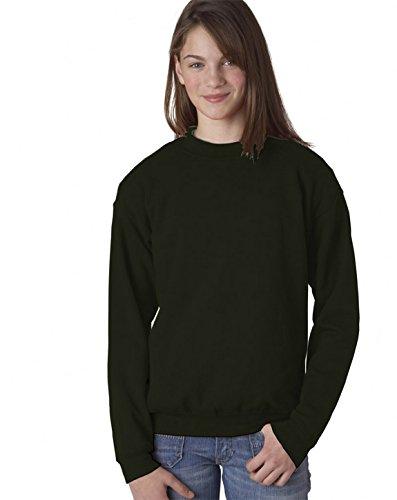 Gildan - Youth Crewneck Sweatshirt. 18000B - Large - Navy