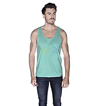 Creo Fish Animal Tank Top For Men - L, Green