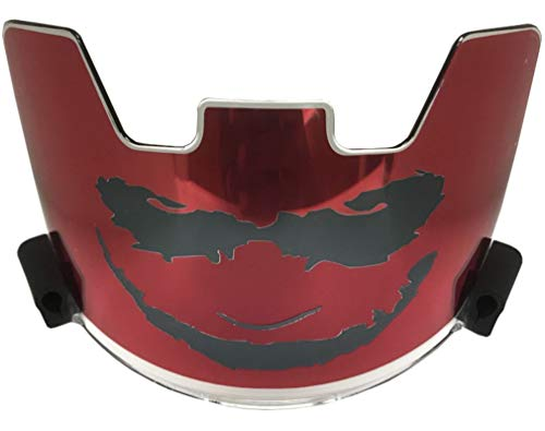 Soldier Sports Joker Visor - Red/Black (Universal, Black/Red)