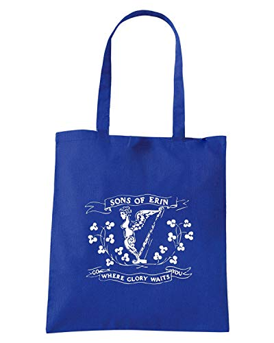 Borsa Shopper Royal Blu TIR0193 SONS OF ERIN GLORY WAITS