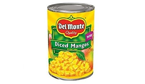 Del Monte Diced Mangos in Light Syrup (Pack of 3) 15 oz (Mango Diced)