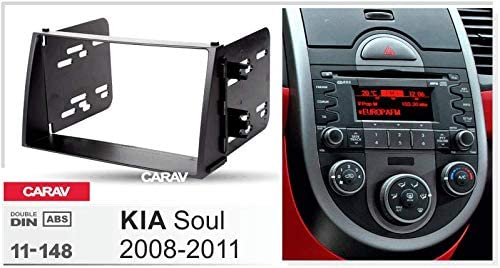 CARAV 11-148 2-DIN Marco de pl/ástico para Radio para KIA Soul 2008-2011