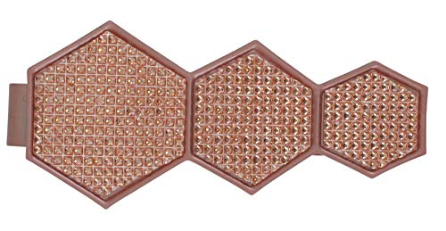 EVIDECO L249446 Metal Geometric Tieback with Magnet Monte Carlo-Copper, Pink