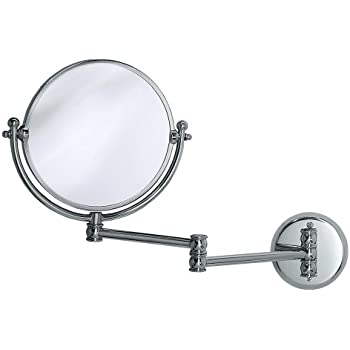 Gatco 1411 Wall Mount Mirror With 14 Inch Swing Arm Extents Chrome