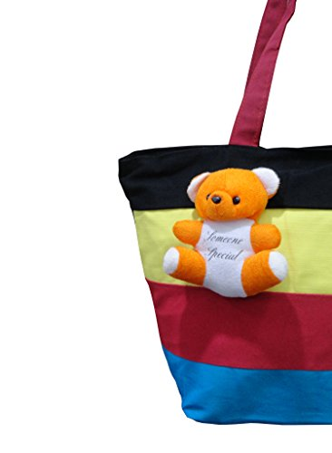 169c67f1575b Atorakushon® Ethnic Cotton Carrying Case Women with small teddy Handbag  Clutches Ladies Shoulder Bag College For Girls Black  Amazon.in  Shoes    Handbags