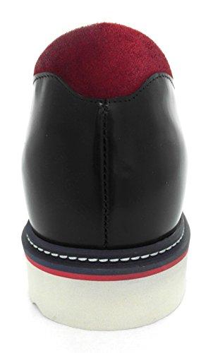Zerimar Ascensore Altezza Crescente Scarpe Ascensore Per Gli Uomini Aggiungere +2,7 Pollici Al Tuo Altezza Qualità Florida Scarpe In Pelle Nera Made In Spain Nero
