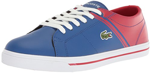 Lacoste Kids' Riberac Sneakers,Dark Blue/Red synthetic,6.5 M US Big Kid (Pop Lacoste Classic)
