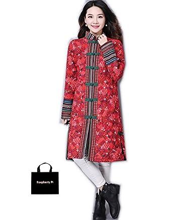 c0a27ff63e461 (ラズベリーパイ) RaspberryPi チャイナドレス アウター チャイナ服 長袖 コート 普段着 上品 舞台 衣装