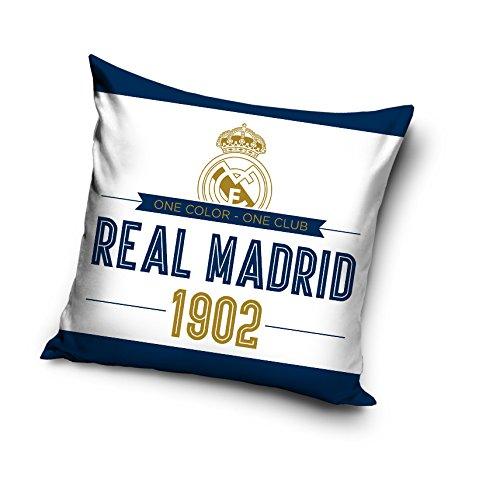 Real Madrid Cojín Microfibra, Blanco 40x40x15 cm: Amazon.es ...