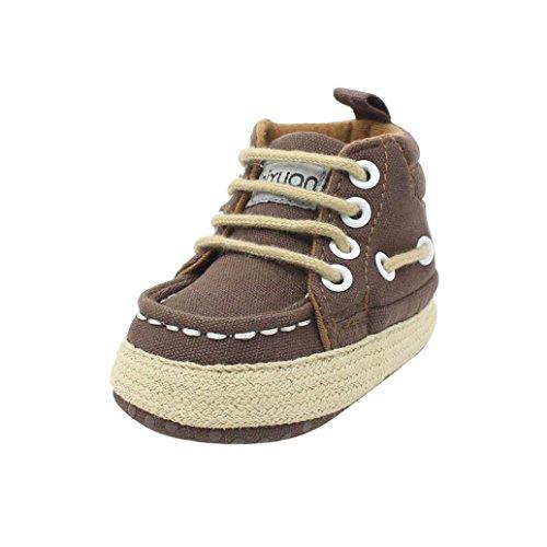Tefamore Zapatos Del Pesebre Las Zapatillas de Deporte Suaves De Los Muchachos De Las Muchachas Del Niño Atan Para Arriba Los Prewalker Café