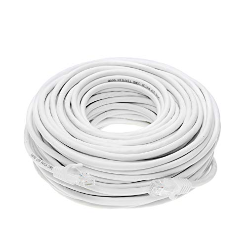 Cable Networking Cables - Cat5e 50FT Networking RJ45 Ethernet Patch Cable Xbox \ PC \ Modem \ PS4 \ Router - (50 Feet) White
