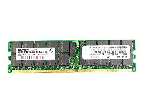 Elpida 2GB PC2-3200 DDR2-400MHz ECC Registered CL3 240-Pin DIMM EBE21RD4AGFA-4A-E