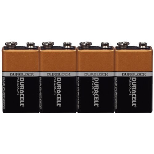 9 Volt Duracell Duralock Alkaline Batteries Coppertop Pack of 12 + FREE Plastic Storage Battery Clamshell Blister Case