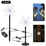CERCHIO Christmas LED Pathway Lights 3D Snowflake Flash Lighting Garden Stake Lights Outdoor Decoration Waterproof for Landscape Garden Lawn Patio Halloween Thanksgiving Christmas Party 2 Pack For Sale