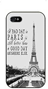 iPhone 4 / 4s A bad day in Paris is still better than a good day anywhere else. Vintage Eiffel Tower - black plastic case / Paris, France