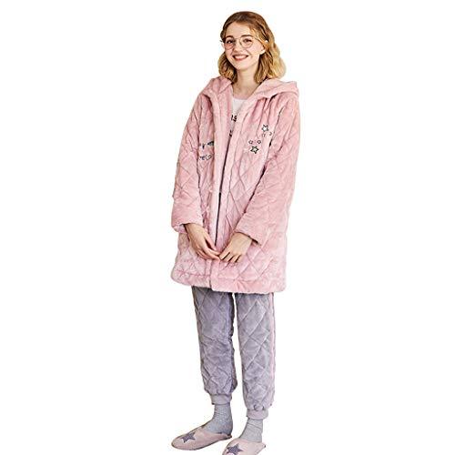 Servicio Domicilio Invierno Cómodos color S Pijamas Larga Con Size Animados Trajes Manga Pink Capucha Dibujos Dulce De Otoño Pink A Traje E xtx8EfY
