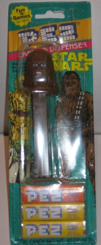 (Star Wars PEZ - Chewbacca Dispenser & Candy with cardback (variant colors))
