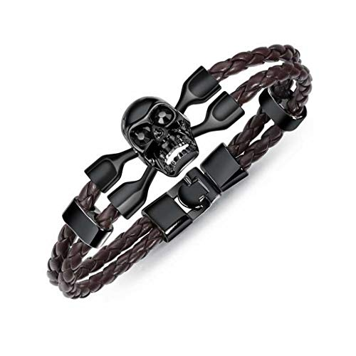 Stylish Men Accessories Vintage Skull Bracelet Simple Alloy Popular Creativity Bracelet Personality Jewelry Gift(picture 3)