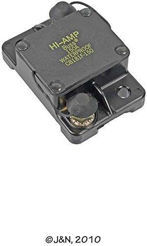 (Bussmann CB181F-80 80 Type I Flush Mount High Amp Circuit Breaker, 30Vdc, One Per Box (1-Pack))