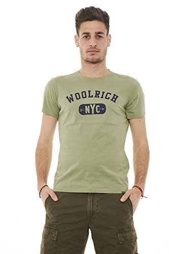 Logo Jr80 Woolrich T Uomo shirt Tee Verde Wotee1125 x8wAqOf1