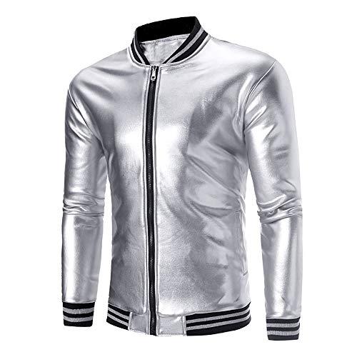Clearance Men's Coat Muranba Warm Fleece Solid Stand Collar