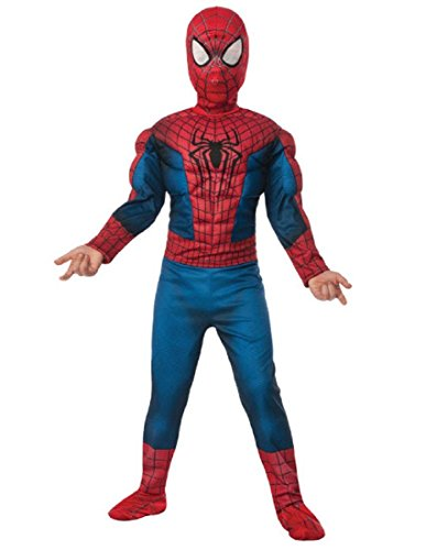 (Rubie's Marvel Comics Collection, Amazing Spider-man 2, Deluxe Spider-man Costume, Child Large - Child Large One Color)
