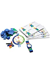 LEGO Time Teacher Sets with Plastic Watch, Constructible Clock, and Activity Cards