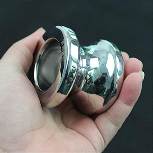 Angelato Love Enjoy Anal Stimulation Ring Anal Plug Butt Stooper Anus Ring Chrysanthemum Procteurynter Stainless Steel Anal Sex Toys for Men H8-1-55 I D82T72W50d45L60 by Angelato (Image #2)
