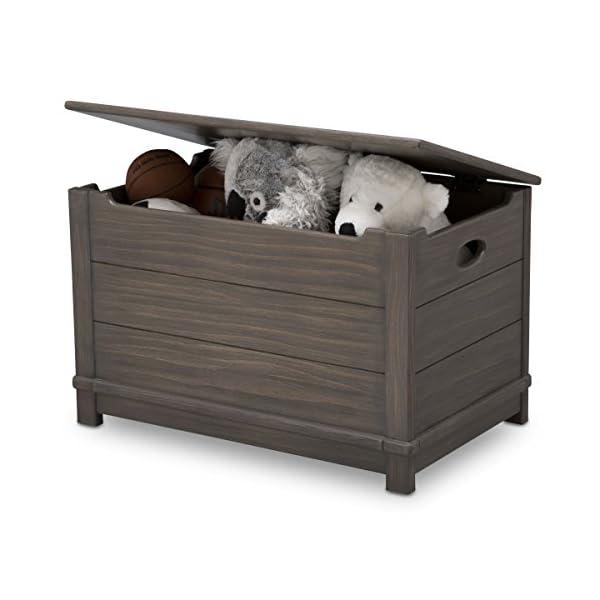 Delta Children Monterey Farmhouse Hope Chest Toy Box, Rustic Caramel