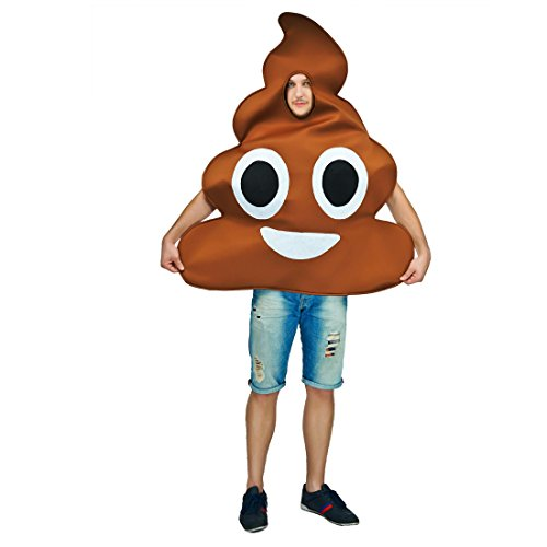 flatwhite Adult Unisex Emoticon Costumes One Size (Poop)