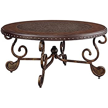 Amazoncom Ashley Furniture Signature Design Rafferty Coffee - Ashley signature coffee table set