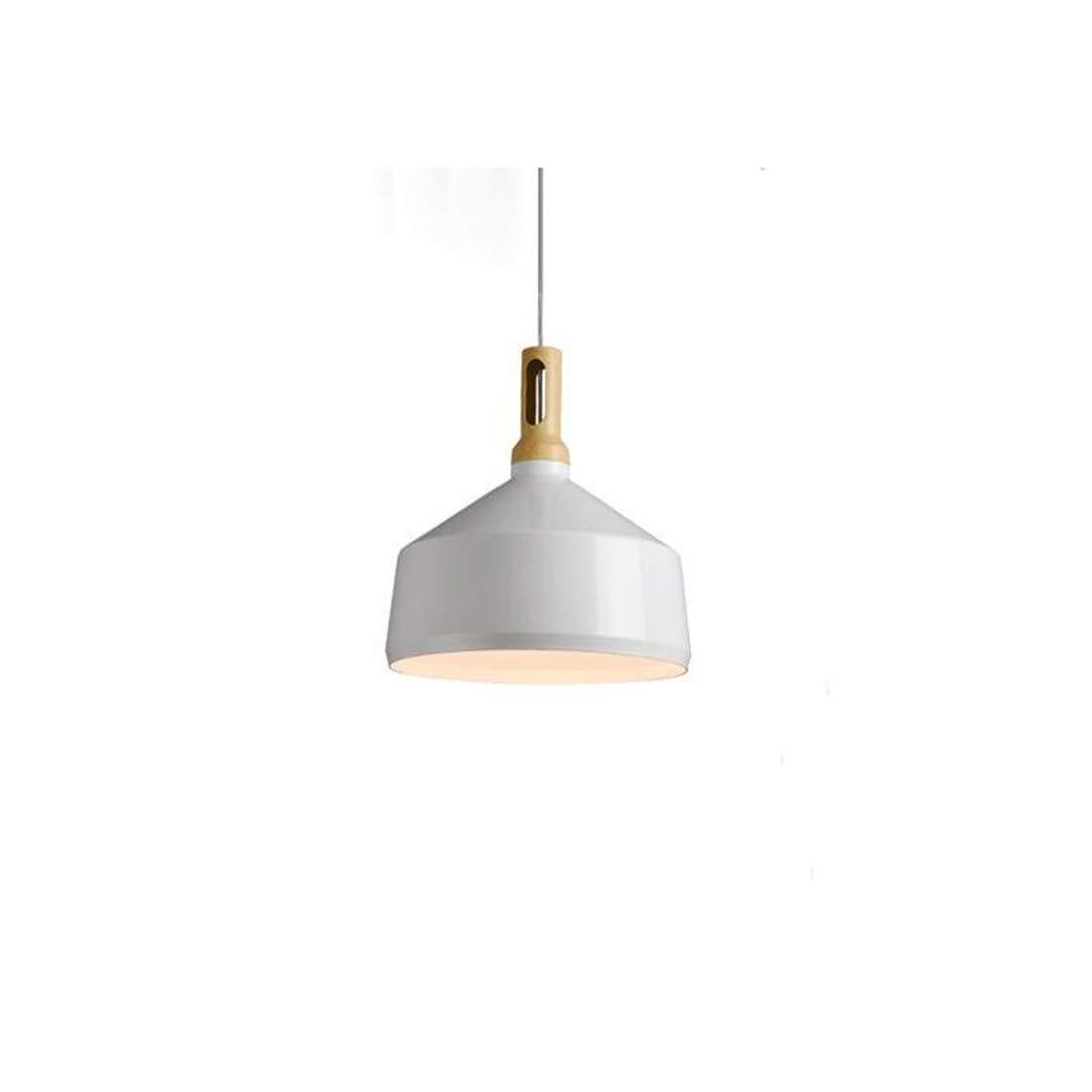 Moderne Kronleuchter Scheinwerfer Nordic Moderne weiße Eisen Pendelleuchte Persönlichkeit E27 1-Light Metall Hängelampe