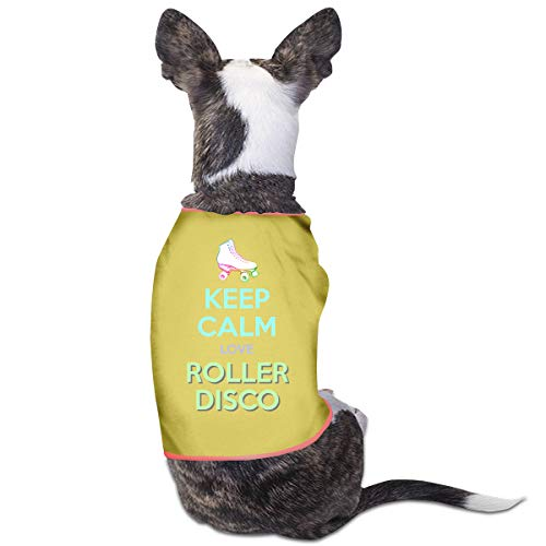 (Puppy Dogs Shirts Costume Keep Calm Love Roller Disco Pets Clothing Warm Vest T-Shirt)