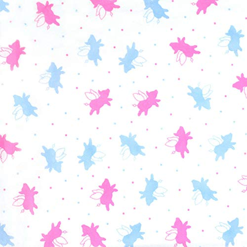 Pink & Blue Flying Pigs Piglets White Tissue Paper Gift Wrapping 20