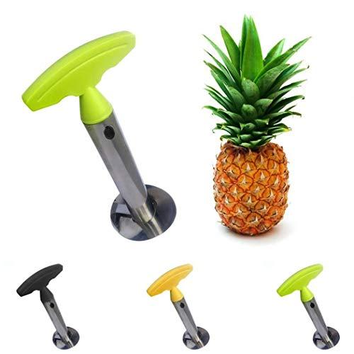 Whatyiu Multi-functional Manual Stainless Steel Pineapple Corer Slicer Peeler for Diced Fruit Rings All in One Pineapple Tool Peeler(Green) ()
