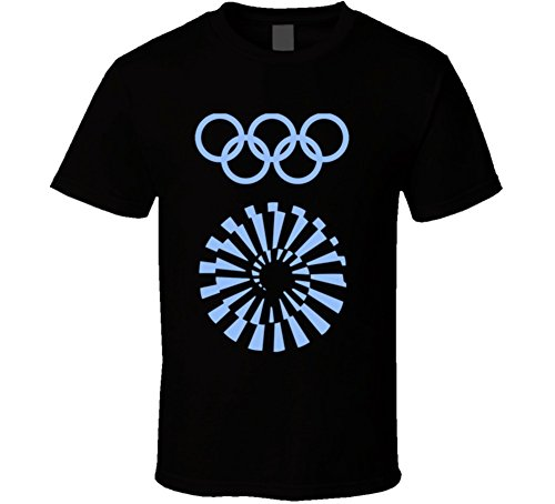 Munich 1972 Summer Olympics Logo T Shirt 2XL Black