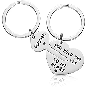 f44a040f5 Couple Gifts for Boyfriend and Girlfriend - You Hold The Key to My Heart  Couple Keychain for Him and Her, Valentine's Day Birthday Gifts for  Boyfriend ...