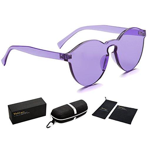 Dollger Purple Sunglasses Women Rimless Cat Eye Sunglasses Candy Color - Framless Glasses