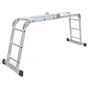 Escalera multifuncional Escalera de aluminio Plataforma de trabajo