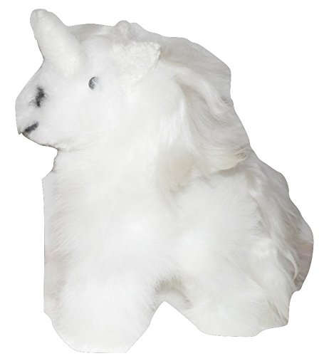 GORGEOUS HYPOALLERGENIC CUDDLING 100% BABY ALPACA FUR UNICORN SOFT TOY FROM PERU
