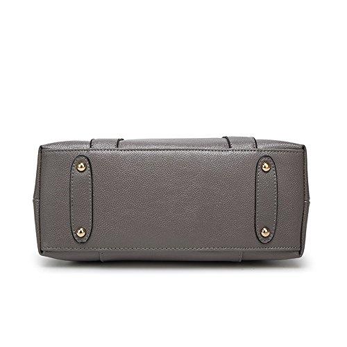 Sumferkyh Messenger Momia Litchi Bolsa Laptop Gran Pu Pattern Para Bolsas Tote Gris Bag De Bag La Capacidad Mensajero Material qrq1CO