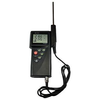 thermco precisión Mano PT100 sonda de termómetro digital, doble, 200/850 C &