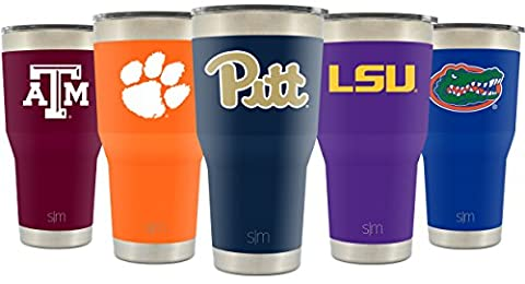 Simple Modern University of Pittsburgh 30oz Cruiser Tumbler - Vacuum Insulated Stainless Steel Travel Mug - Pitt Panthers Tailgating Hydro Cup College Flask - University - Pitt Panthers
