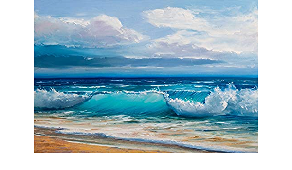 Laeacco 10x8ft Huge Sea Waves Background for Photography Tropical Beach Stormy Seascape Backdrop Natural Scenery Blue Sea Marine Theme Photo Studio Children Kids Portraits Prop Summer Party Decoration