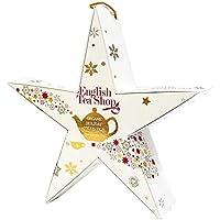 """English Tea Shop - Stern zum Aufhängen""""Red & Gold Star"""", mit BIO-Tee, 6 Pyramidenbeutel"""