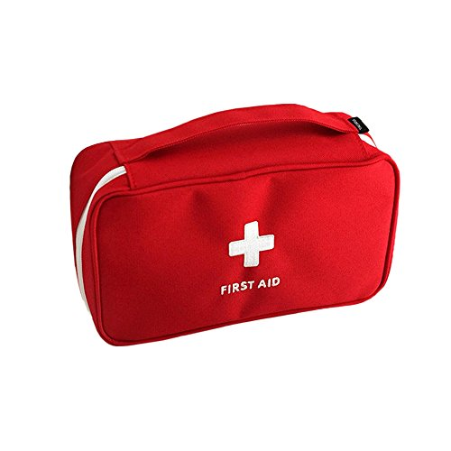 Price comparison product image Zhenxinmei Large Capacity First Aid Pouch Multifunction Medical First Aid Bag Portable Travel First Aid Kit Utility Pouch Emergency Response Trauma Bag Medicine Bag Outdoor Storage Bag (Red)