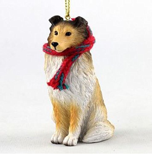 Shetland Sheepdog Christmas Ornament (Sheltie with Scarf Christmas Ornament (Large 3 inch version) Dog)