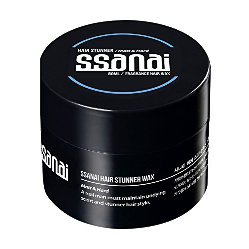 SSANAI Hair Stunner - Men's Hair Styling Matte Wax Workable Molding Cream Paste Sculpting Texturizer Putty Super Strong Hold with No Shine for Short Spiky Wild and Modern Hair Styles 50g 1.76oz (Styling Wax Head)