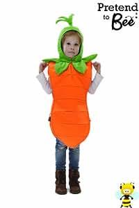 Kids - Disfraz de zanahoria para niño, talla 3 - 5 años