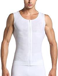 3bc60c7e85e1e Gynecomastia Compression Hide Man Moobs Abdomen Slimming Chest Binders Tank  Tops